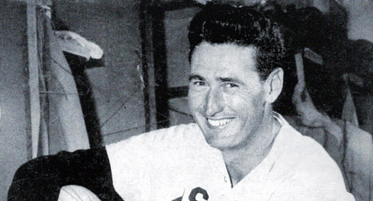 Ted Williams only tallied 416 plate appearances for the 1950 Red Sox. (via Wikimedia Commons)