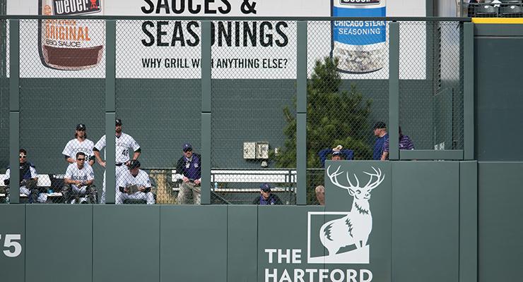 Coors Field's outfield fence got an alteration last season. (via Matt Dirksen, Colorado Rockies)