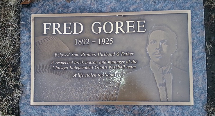 The marker on Fred Goree's grave in Lincoln Cemetery in Alsip, Ill. (via Dr. Jeremy Krock)