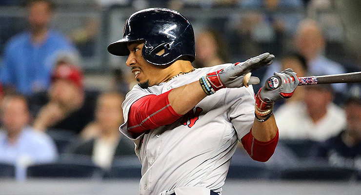 How much of Mookie Betts' improved hitting was due to his new Axe bat? (via Arturo Pardavila III)