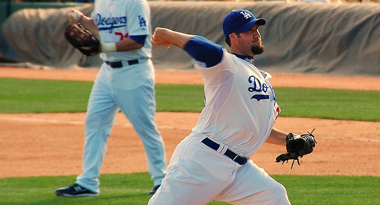 Eric Gagne, dominant in his time with the Dodgers, is simply a middle reliever on this all-time team. (via John Verive)