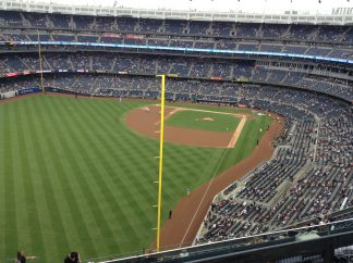 Our seats. Even from this height, Aaron Judge is still huge.