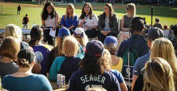 Celebrating Women in Baseball Night at Safeco Field